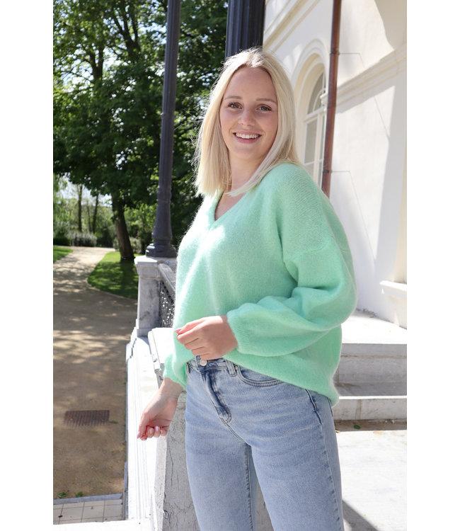 She's Milano x fine knitted - pistache