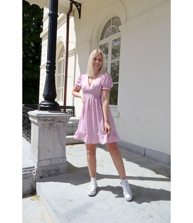 Dotted dreamy dress - pink
