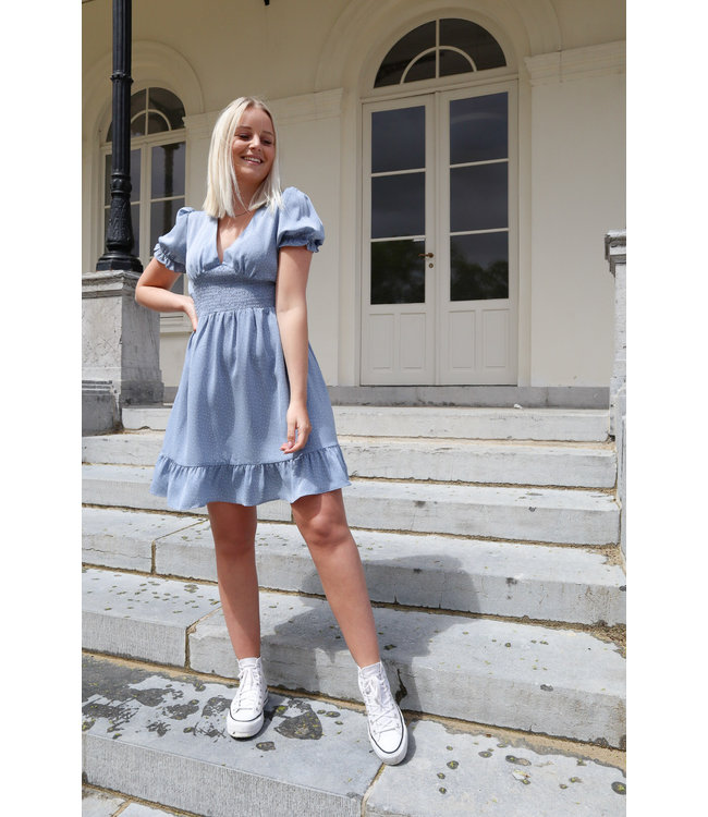 Dotted dreamy dress - blue
