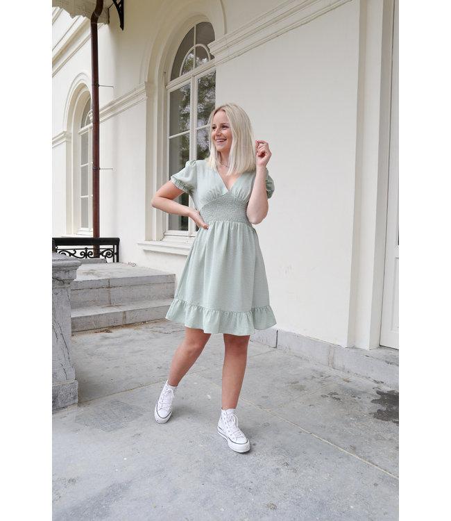 Dotted dreamy dress - mint
