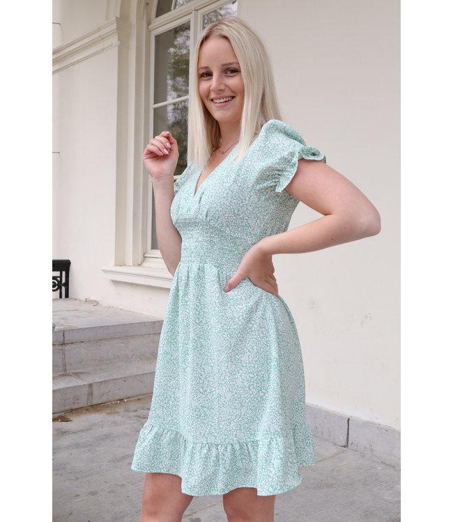 Floral dreamy dress - mint