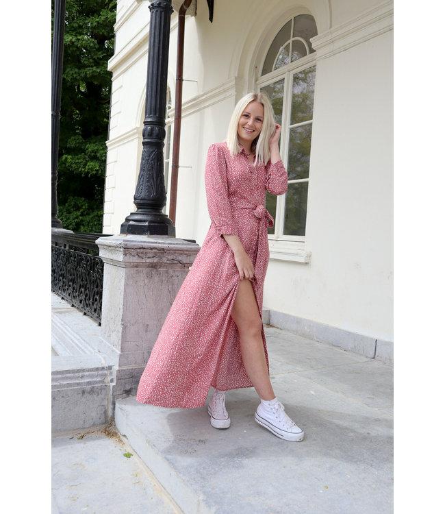 Maxi dots dress - maroon