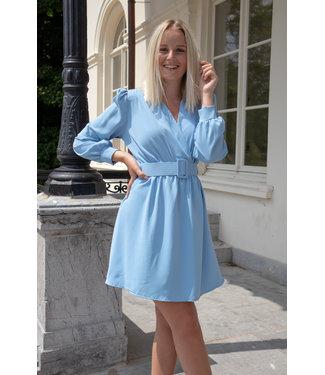 Kiki belt dress - blue