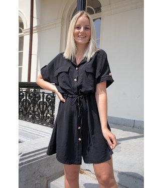 Balmain inspired dress - black