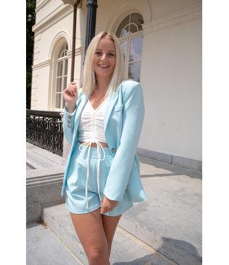 Isa suit short - blue