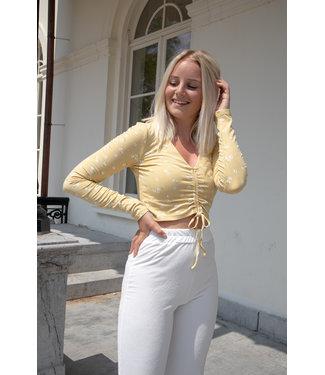 Liza flower shirt - yellow