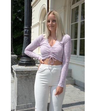 Liza flower shirt - lila