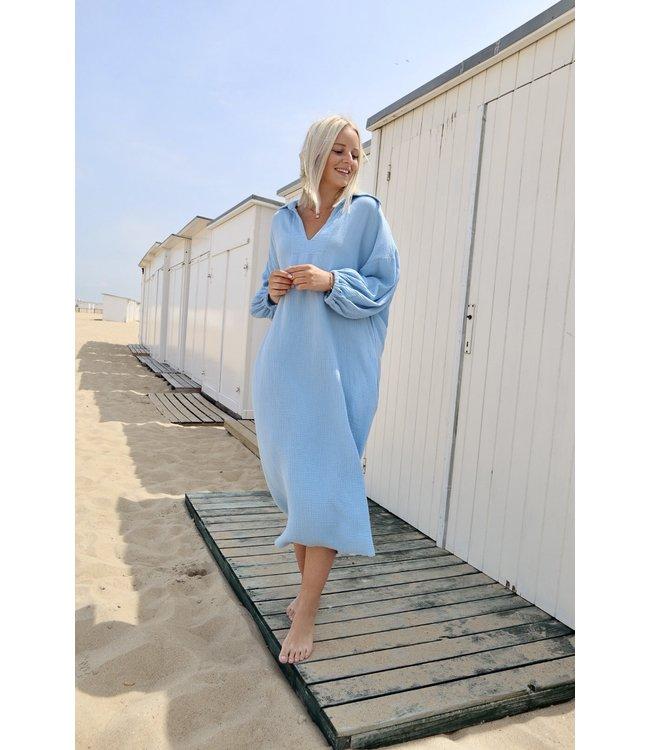 Oversized tetra dress - sky blue