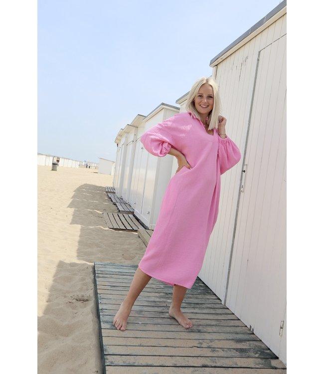 Oversized tetra dress - pink