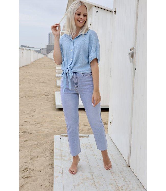 Tetra knot blouse - blue