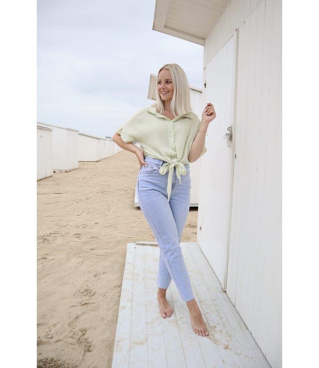 Tetra knot blouse - mint