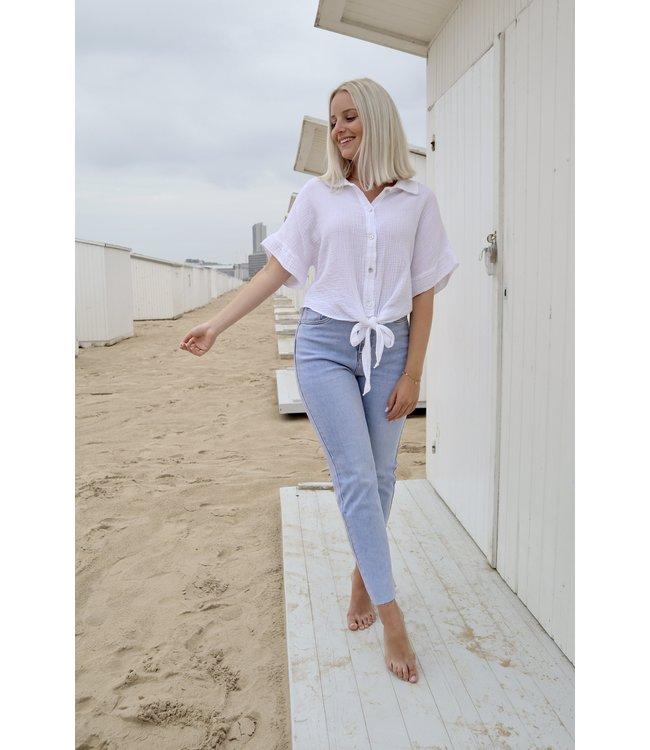 Tetra knot blouse - white