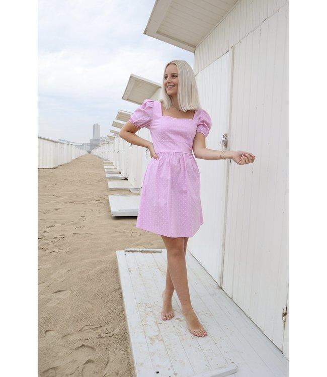 Polka dots dress - pink