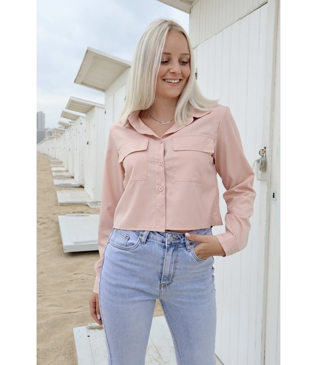 Pocket blouse - rosé