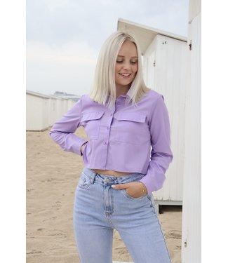 Pocket blouse - purple