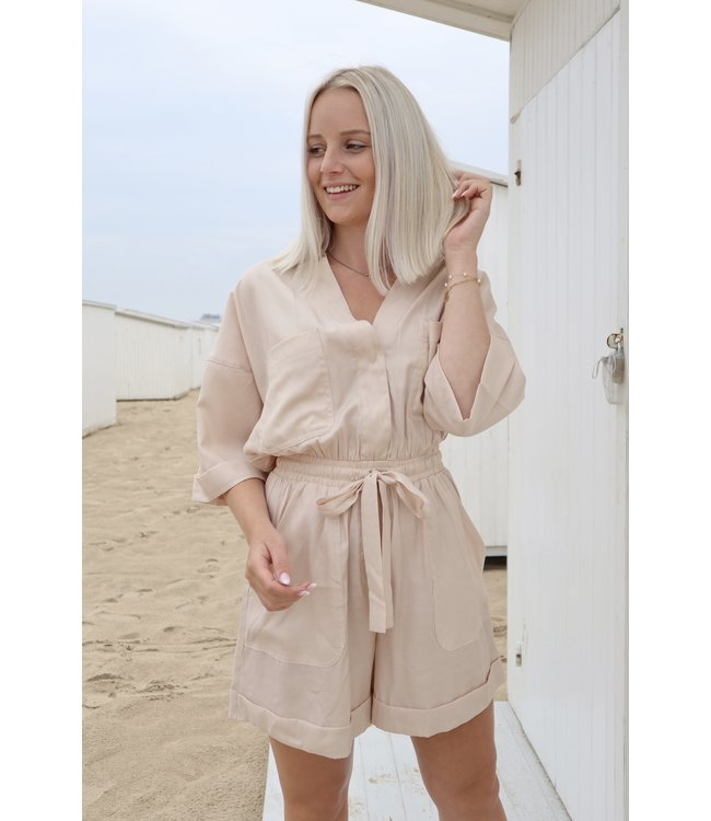 Perfect summer playsuit - Nude