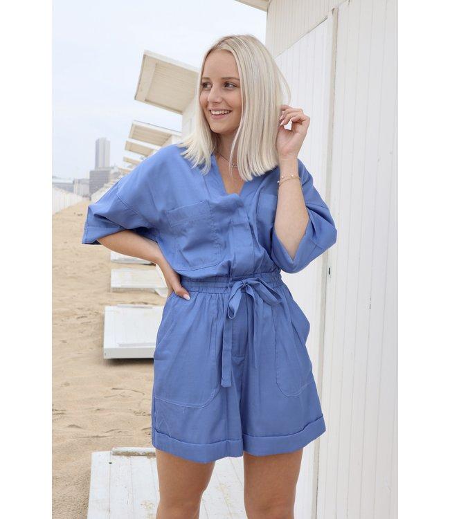 Perfect summer playsuit - Indigo blue