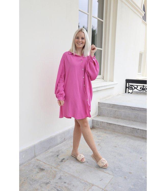Tetra chemise dress - fuscia
