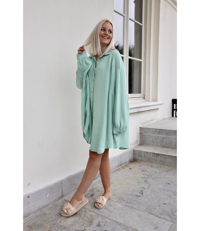Tetra chemise dress - mint