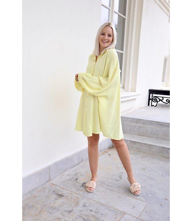 Tetra chemise dress - yellow