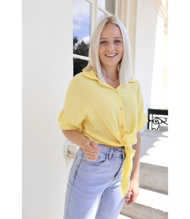 Tetra knot blouse - yellow