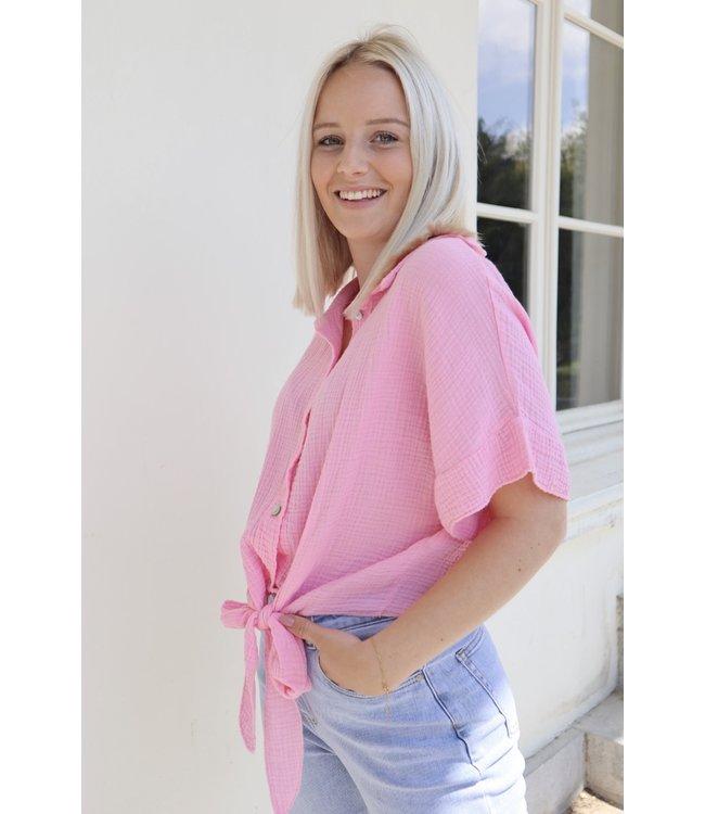 Tetra knot blouse - pink