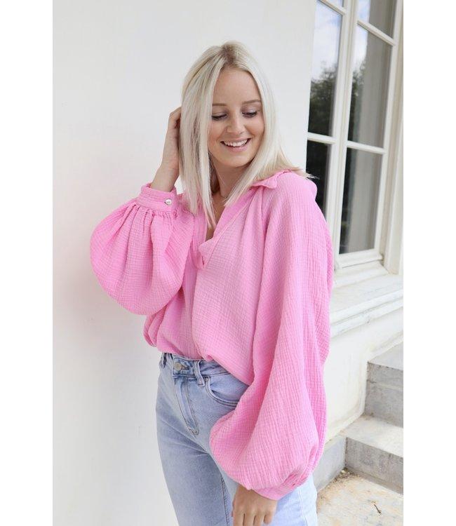 Perfect tetra blouse - pink