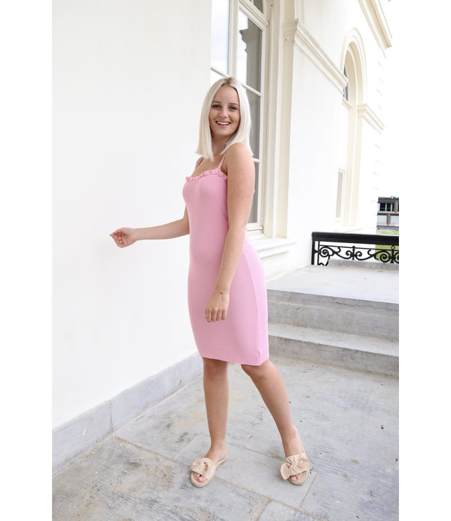 Silhouette ruches dress - pink