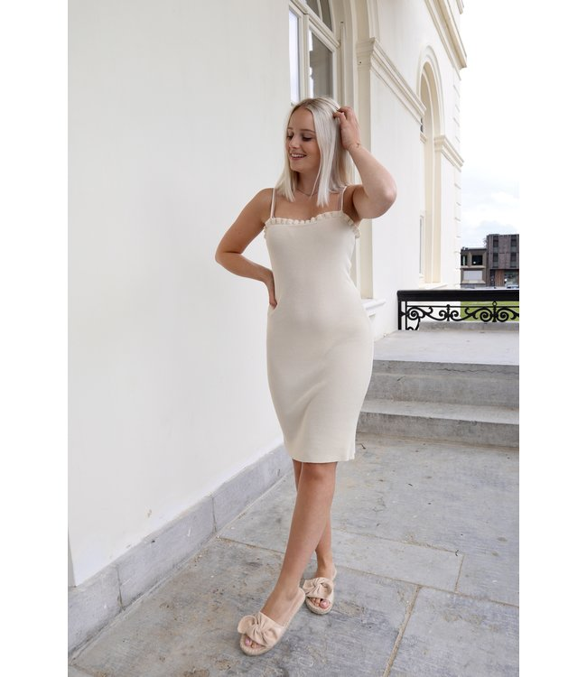 Silhouette ruches dress - nude