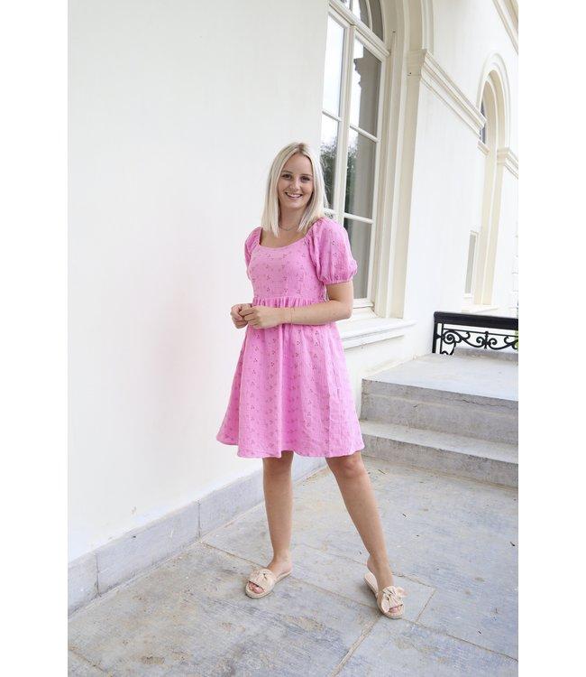 Emma lace dress - pink