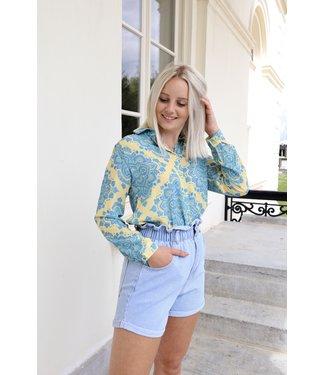 Mandala blouse - yellow/blue