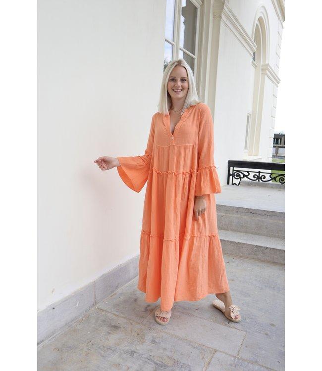 Tetra smock long - orange