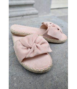 Bouclé slippers - pink