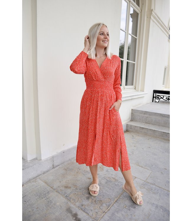 Lucy dots dress - red