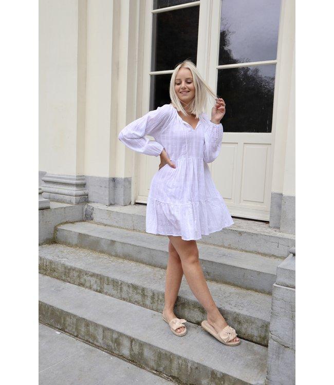 Cotton smock dress - white