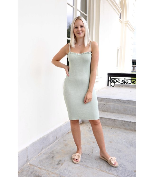 Silhouette ruches dress - mint