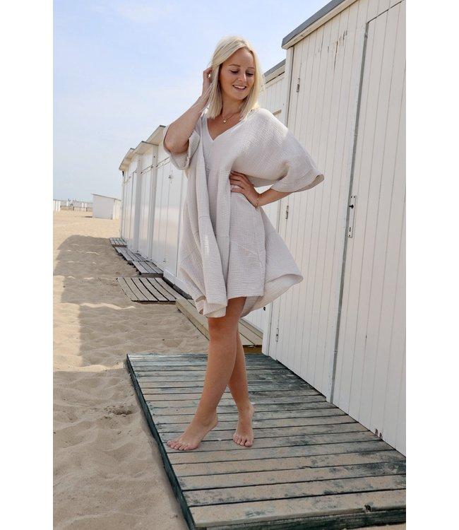 Tetra smock dress - nude
