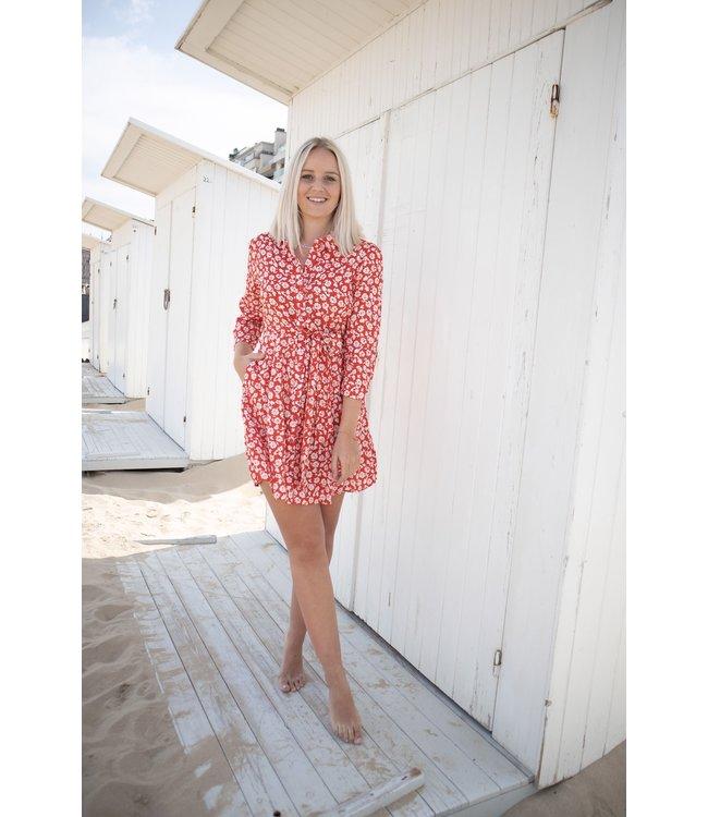 Bloomy dress - red