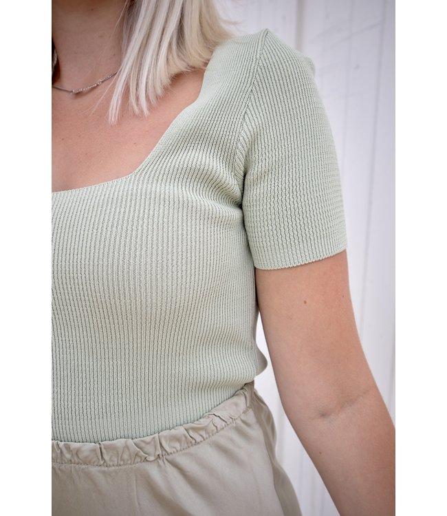 Square crop shirt - mint