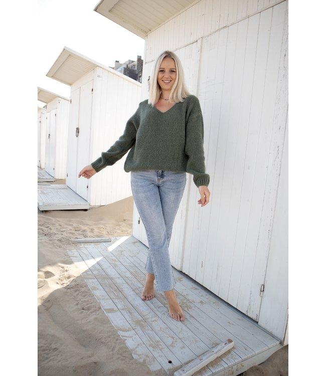 Belle sweater - kaki