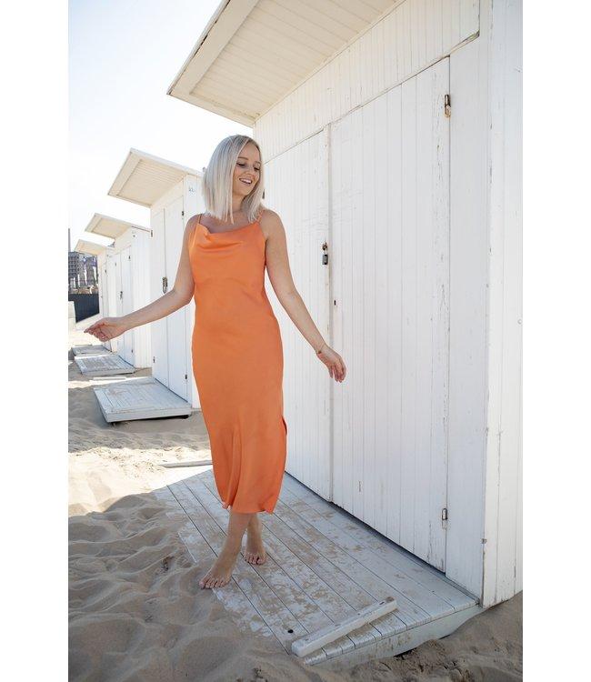 Satin silhouette - orange