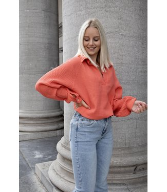 Perfect tetra blouse - coral