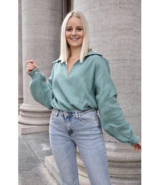 Perfect tetra blouse - kaki