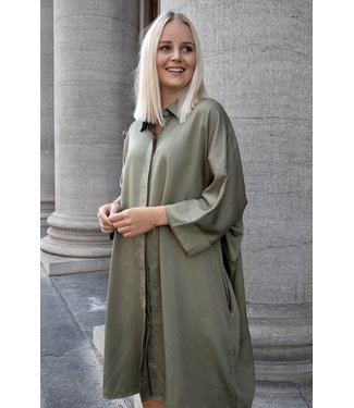 Lora shirt dress - kaki