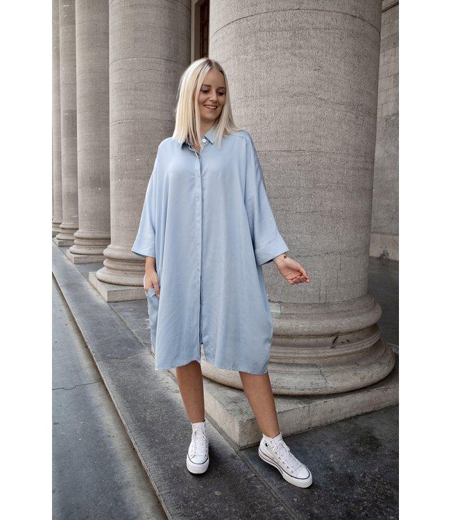 Lora shirt dress - babyblue