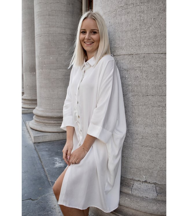 Lora shirt dress - white