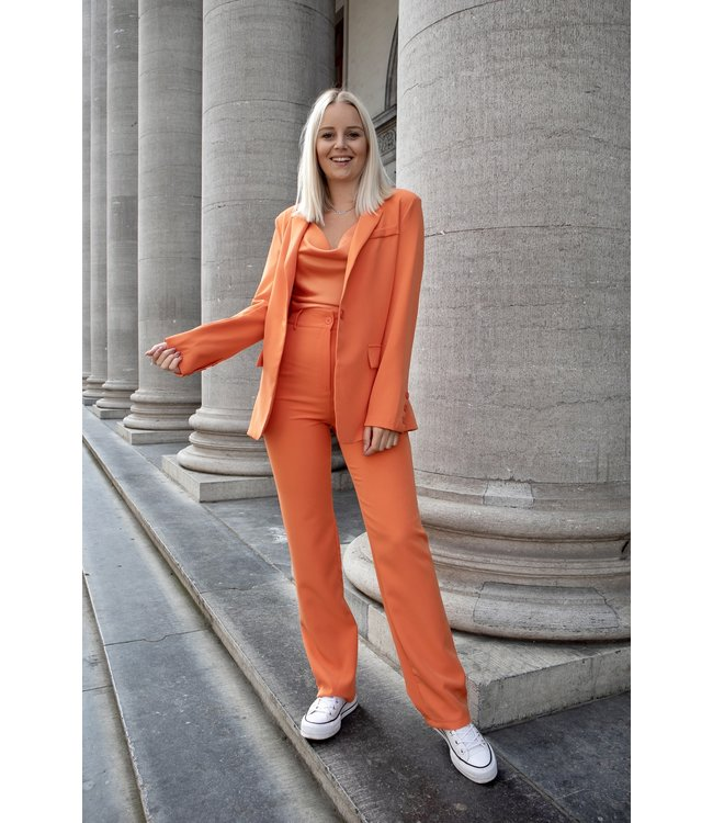Isa suit WIDE trouser - orange