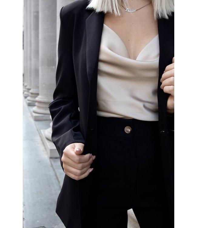 Isa suit blazer - black