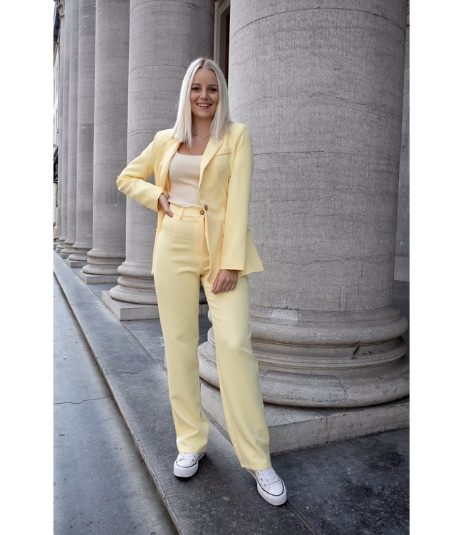 Isa suit WIDE trouser - yellow
