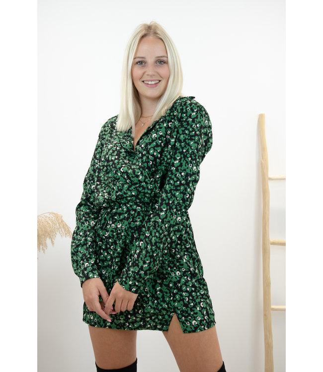 Infinity dress - flowerbom green